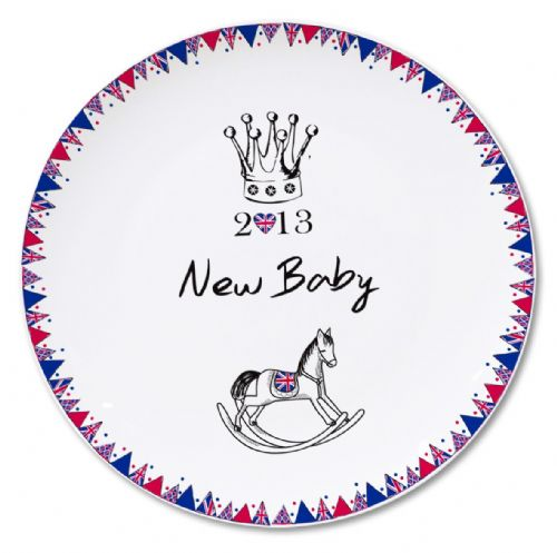 Personalised Royal Baby Bunting Plate